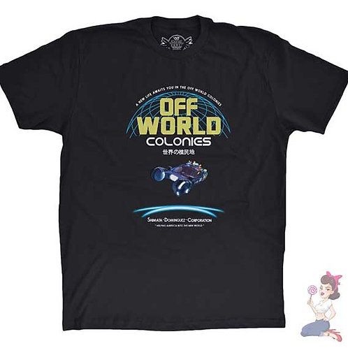 Off World Colonies black t-shirt