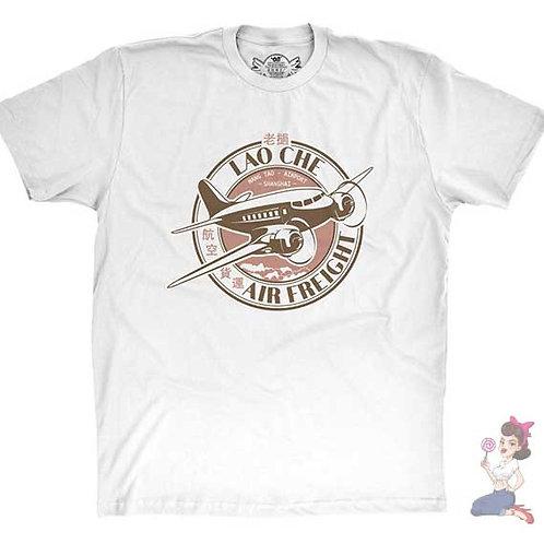 Lao che air freight flat white t-shirt