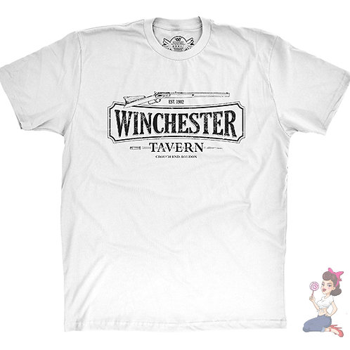 Winchester Tavern flat white t-shirt