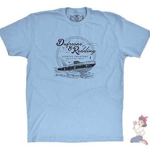 The Shawshank Redemption Dufresne And Redding Fishing Charters t-shirt design by Candywrap Design