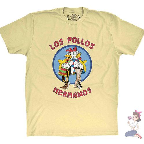 Breaking Bad Los Pollos Hermanos yellow t-shirt