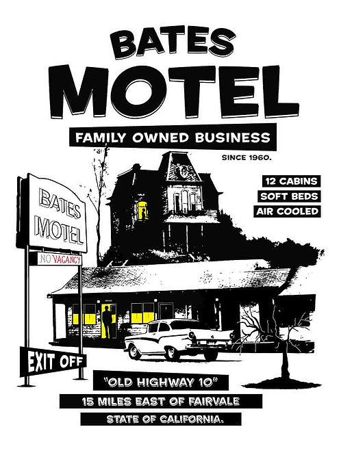 Bates Motel White TV Poster