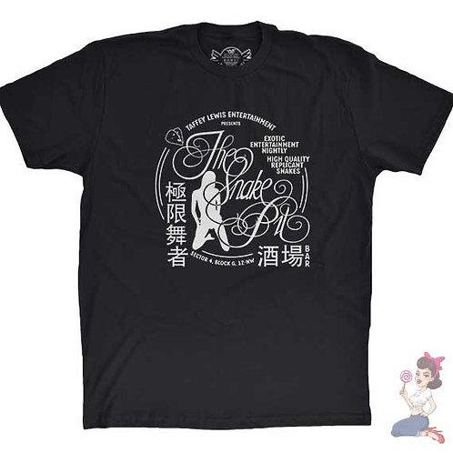 The Snake Pit flat black t-shirt