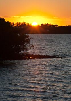 Last Gleam of Light on the Water