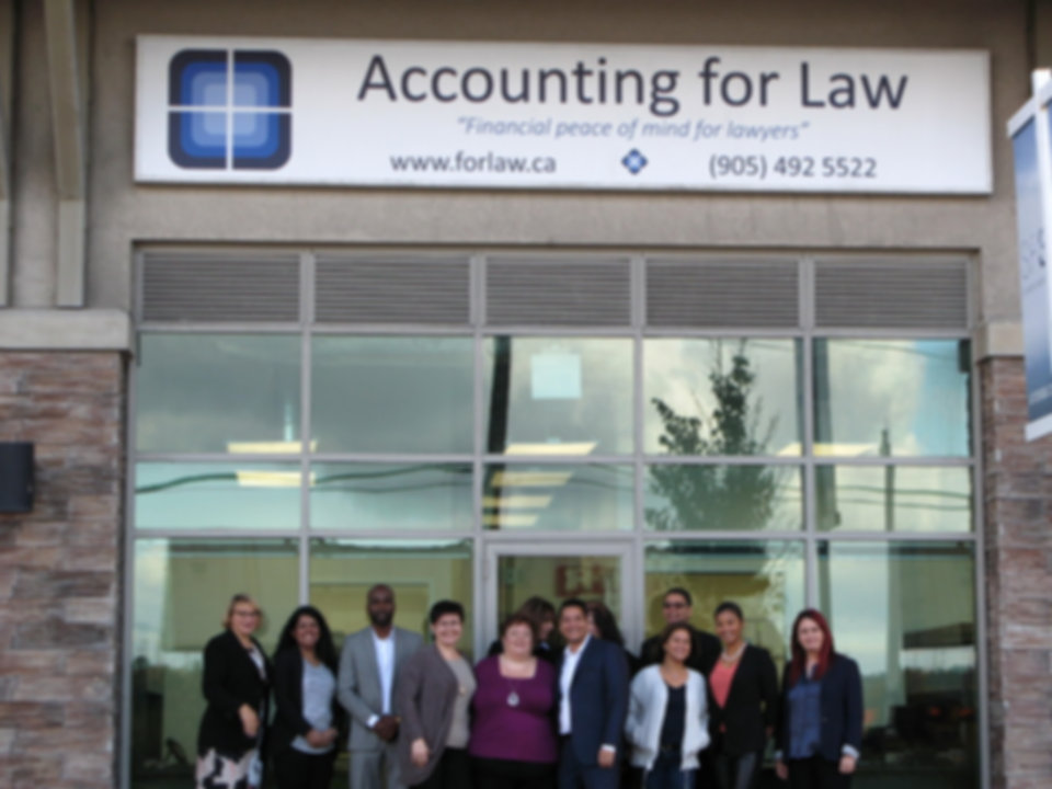 Accounting for Law head office. 1235 Bayly Street, Unit 7 Pickering, Ontario, L1W 1L7  Email: info@forlaw.ca Tel:  1 905-492-5522