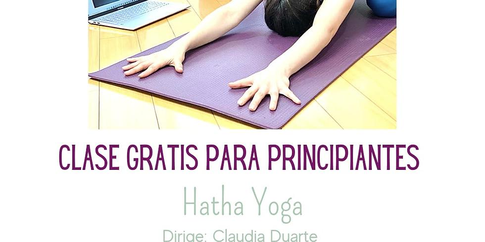 Yoga, clase gratis para principiantes