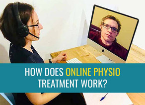 How does Online Physio work at treatmyachilles.com?