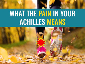 What pain means and how pain levels can help us manage an Achilles Tendinopathy?