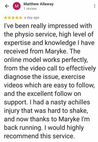 Online Physio Review: Matthew Alleway