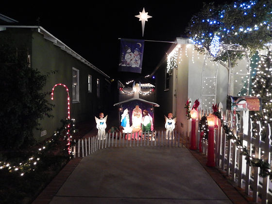 Nativity on the driveway at Winter Snowland