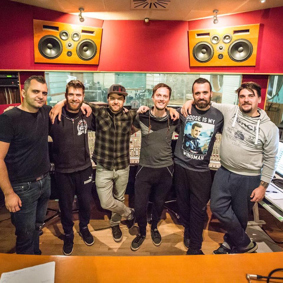 recording session with Matej Pečaver and Matej Gobec