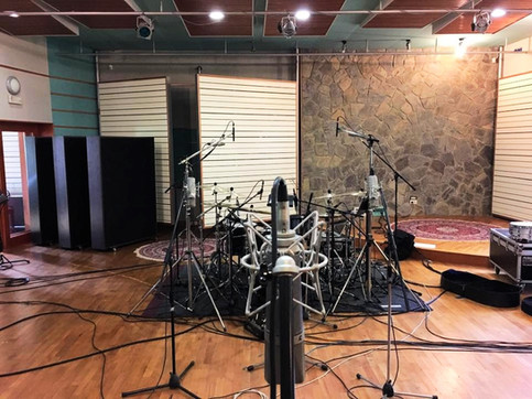 LAIBACH set up to record a new album in our studio.