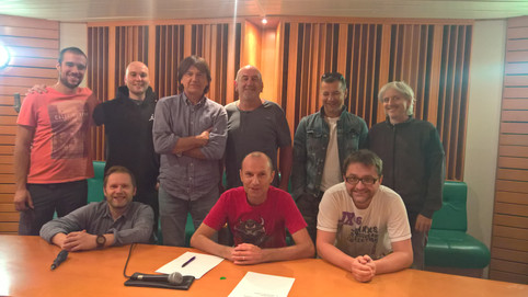 Orlek - new album recording session