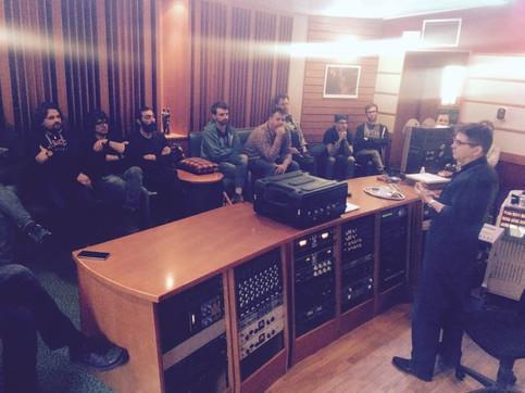 Steve Albini in the studio