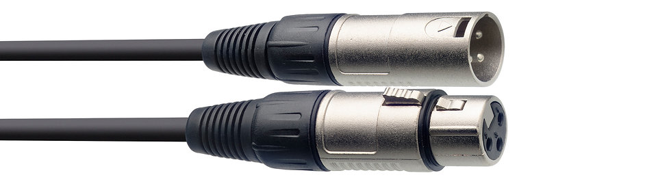 Microphone Cable, XLR/XLR (M/F), 3 M (10')