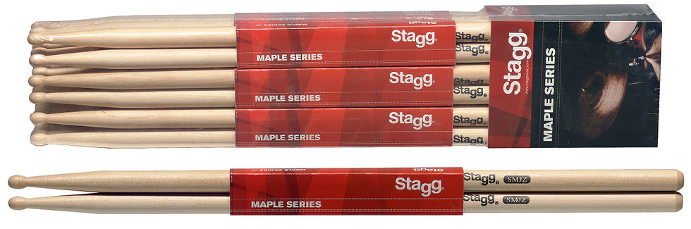 Maple jazz drum sticks