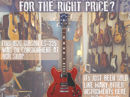 Selling your Guitar and/or Instrument with Sun-Sounds
