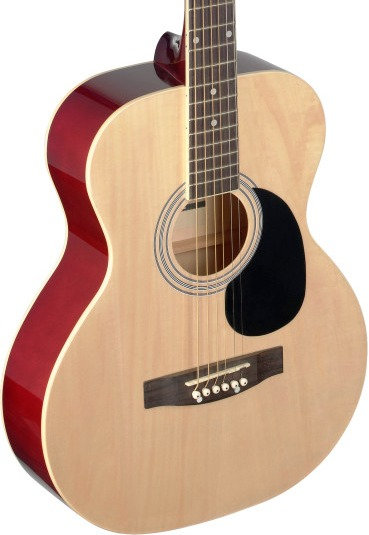 Stagg 4/4 natural-coloured auditorium acoustic guitar with linden top