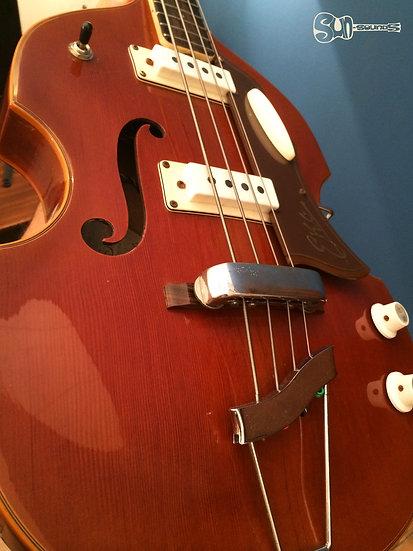 EKO Violin-shaped hollow body electric bass, Electric Bass, Guitar, Electric Guitar