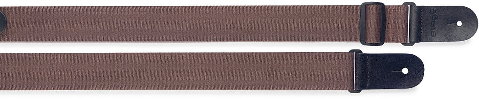 Woven Cotton Guitar Strap Brown