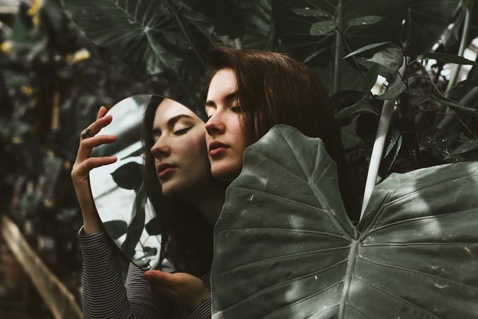 Johns Greenhouse mirror portrait kansas city model bella donna