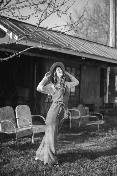 Bella Donna Model Kansas City Vintage Farm Fashion Shoot