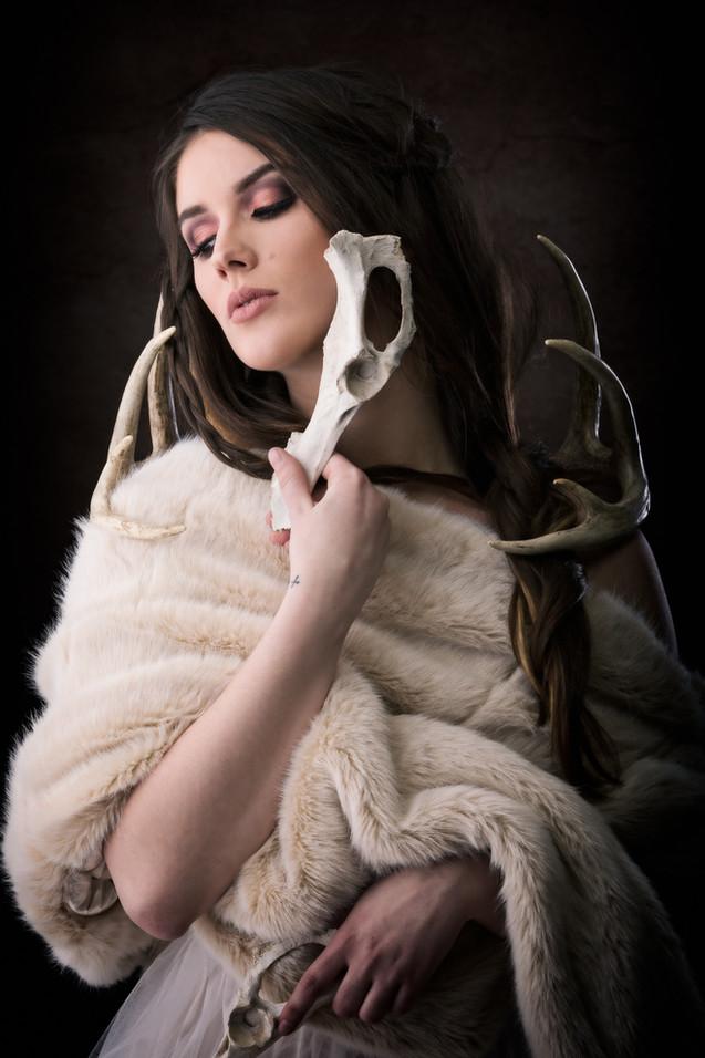 High Fashion Editorial Kansas City Model Bella Donna Fur and Bones