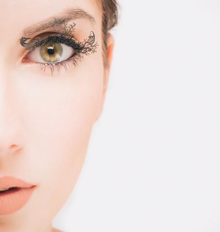 Bella Donna Model Portrait Closeup Kansas City High Fashion Makeup