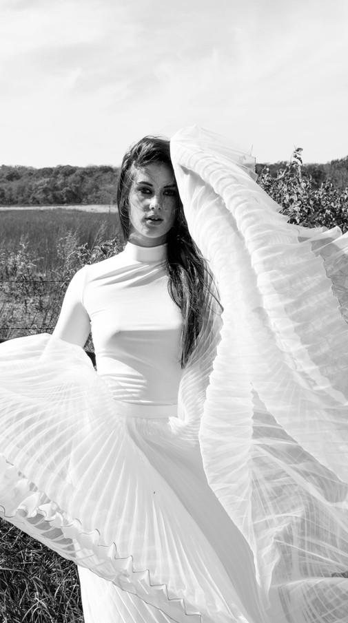 Kansas City Model Bella Donna Field All White Photoshoot