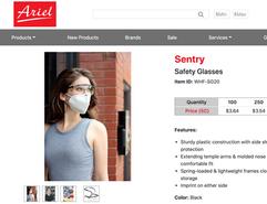 Face Mask Product Model St Louis Ariel P