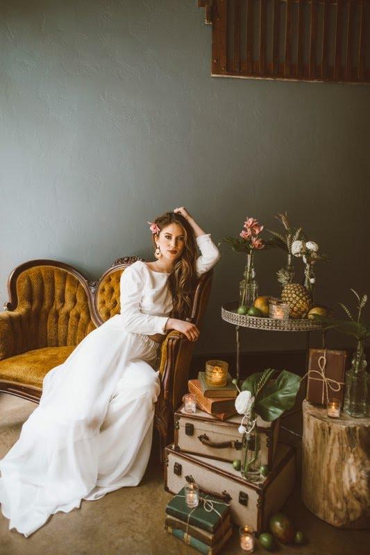 The Bold Americana Tropical Wedding Photography Bella Donna Model Kansas City