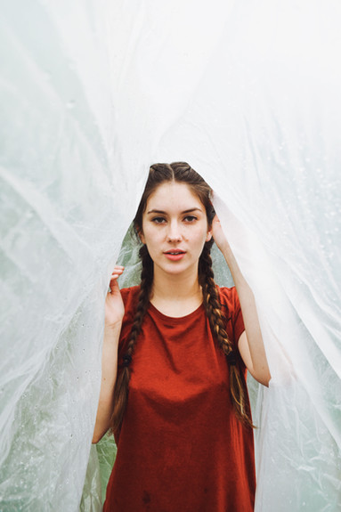 No Makeup Rain Photoshoot Kansas City Bella Donna Model