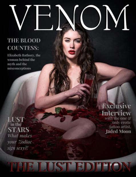 Venom Magazine Blood Bath Kansas City Model Bella Donna