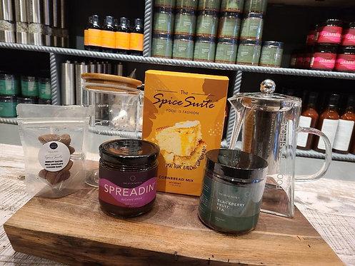 KitchenWEAR + box w/ herbal chocolate tea
