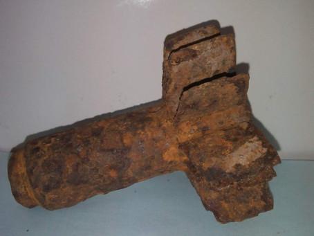 Новый экспонат – хвостовик от мины