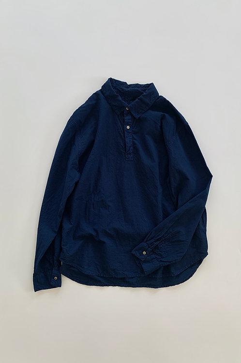 襟付きプルオーバーシャツ