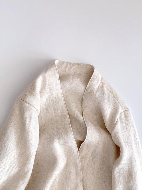 ラミーリネンウールの羽織(受注生産)