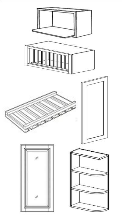 mercury grey specialty cabinets  wall mullion door  u0026 end