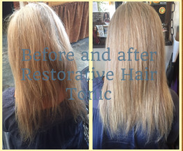 Before and After Restorative Hair Tonic