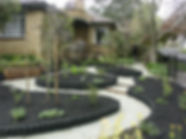 Soft landscaping of native australian garden