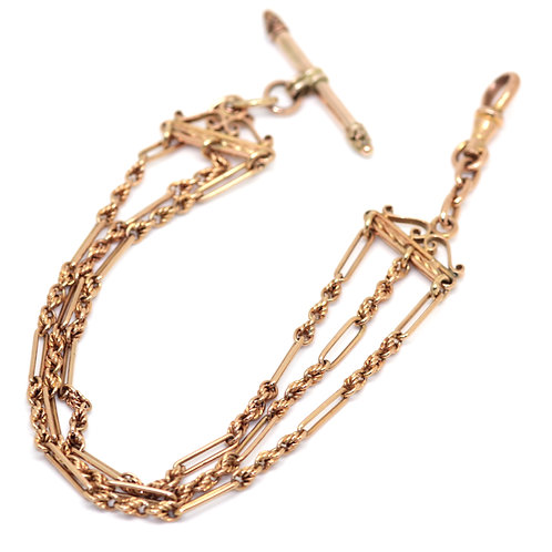 Victorian 9ct Gold Gate Bracelet