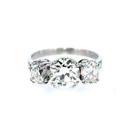 Old Cut Three Stone Diamond Ring