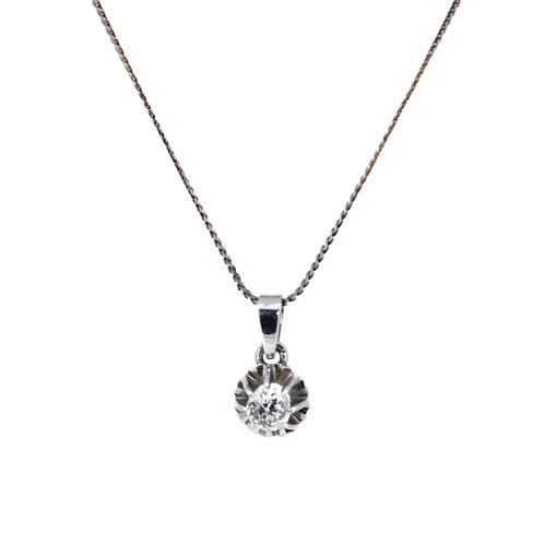 Old Cut 0.60ct Diamond Pendant