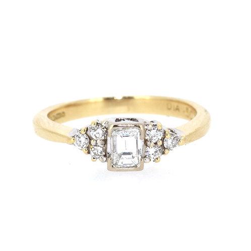 0.50ct Emerald Cut Diamond Solitaire