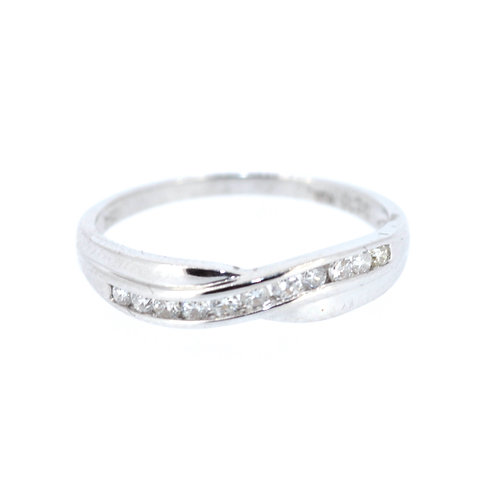 Diamond Twist Half Eternity Ring