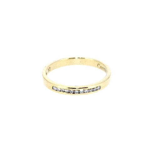Diamond Channel Set Half Eternity Ring