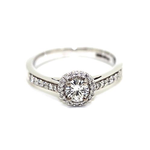 Halo Diamond Solitaire Ring