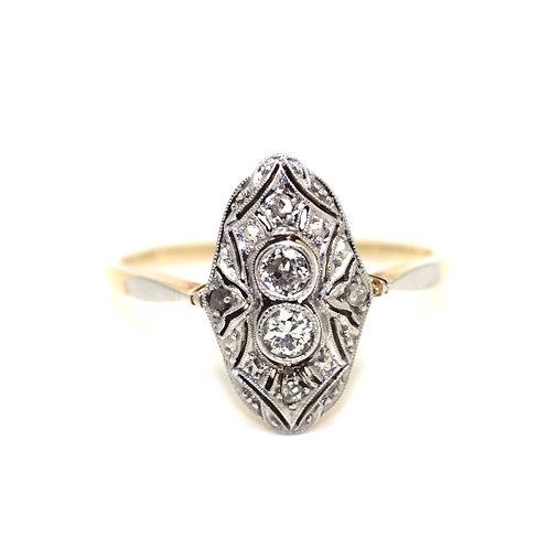 Art Deco 1930's Diamond Up-Finger Ring