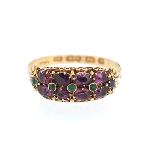 Victorian Amethyst And Emerald Ring