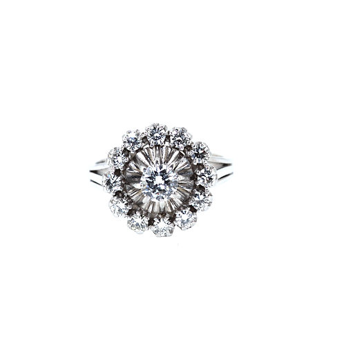 Art Deco Target Diamond Ring